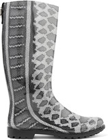 Just Cavalli Snake-print rubber rain boots