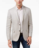 MICHAEL Michael Kors Men's Classic-Fit Light Yellow Tic Sport Coat