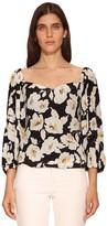 BA&SH Fancy Floral Printed Viscose Shirt