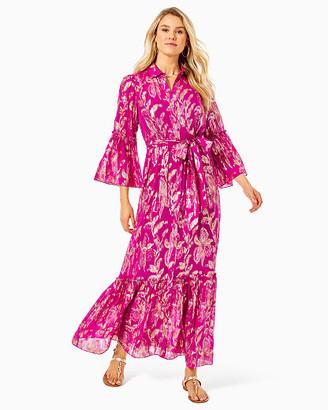 Lilly Pulitzer Cardi Silk Maxi Dress
