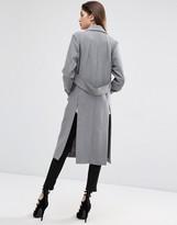 Asos Coat With Tab Back Detail