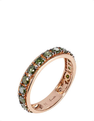 Rosegold Annoushka Dusty Diamonds 18ct rose-gold and diamond eternity ring