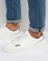 Versace Strap Sneakers In White