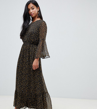 Y.A.S ditsy floral gathered waist midaxi dress
