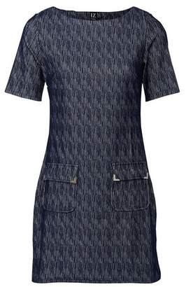 Dorothy Perkins Womens Izabel London Blue Abstract Print Shift Dress, Blue