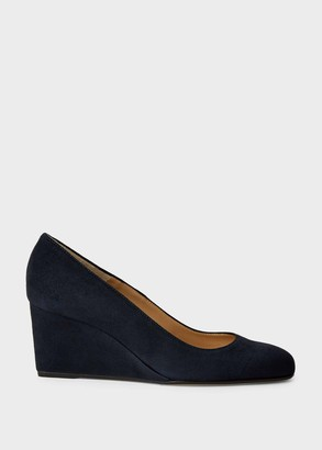 Hobbs Emma Suede Wedge Court Shoes