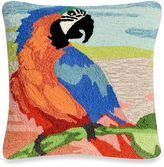 Liora Manné Frontporch Macaw Sunset Square Throw Pillow in Orange