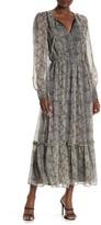 Walter Baker Tatiana Printed Tiered Maxi Dress
