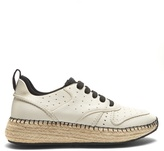 Tod's Leather and espadrille-sole trainers