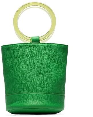 Simon Miller lime green Bonsai 20 bracelet handle leather bucket bag
