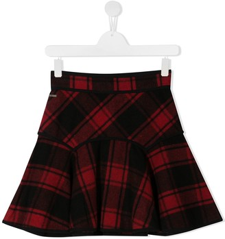 DSQUARED2 TEEN tartan checked skirt