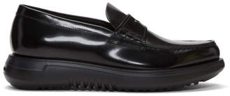 Giorgio Armani Black Leather Loafers
