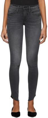 Frame Black Le Skinny De Jeanne Raw Edge Scoop Jeans