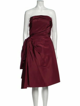 Oscar de la Renta 2016 Mini Dress w/ Tags Red