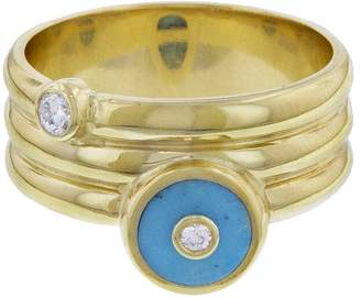 Retrouvaí Turquoise Triple Coil Pinky Ring