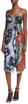 Acne Studios Sleeveless Patchwork Asymmetric Dress, Roses/Palm Mix