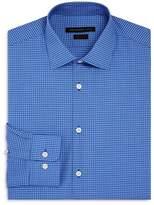 John Varvatos Mini Check Regular Fit Stretch Dress Shirt