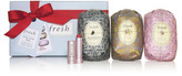 Fresh Oval Soap Trio & Lip Sugar Gift Set