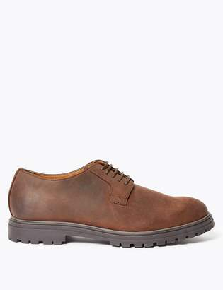 M&S CollectionMarks and Spencer Matte Leather Gibson Derby Shoes