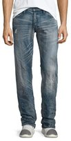 PRPS Barracuda Distressed Dirty-Wash Denim Jeans, Blue