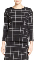 Halogen Windowpane Pattern Sweater