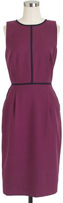 Super Tall tipped dress in 120s wool