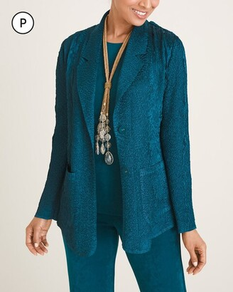 Travelers Collection Petite Crushed Short Blazer