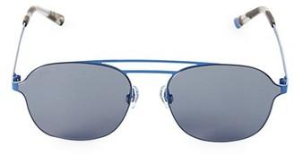 Web Round 58MM Metal Aviator Sunglasses