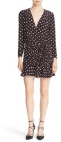 Veronica Beard Women's Lou Lou Silk Ruched Flounce Dress