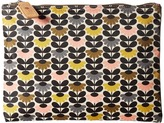 Orla Kiely Mini Wild Daisy Printed Large Zip Pouch Travel Pouch