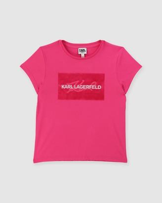 Karl Lagerfeld Paris Short Sleeve T-Shirt - Teens