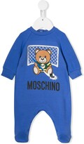 Moschino Kids teddy logo pajamas