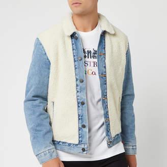 Levi's Men's Sherpa Panel Trucker Jacket