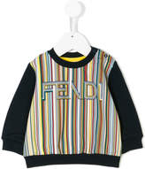 Fendi striped logo sweatshirt