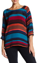 Plenty by Tracy Reese Easy Boatneck Printed Shirt