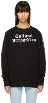 Marcelo Burlon County of Milan Black cultural Armageddon Are Sweatshirt