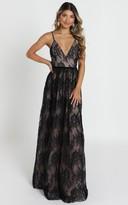 Showpo Emilia maxi dress in black Lace- 8 (S) Wedding Guest