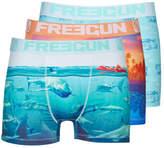 Freegun LOT DE 3 BOXERS HOMME FREEGUN SEA MULTICOLORE