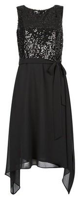 Dorothy Perkins Womens **Billie & Blossom Black Sequin Midi Skater Dress, Black