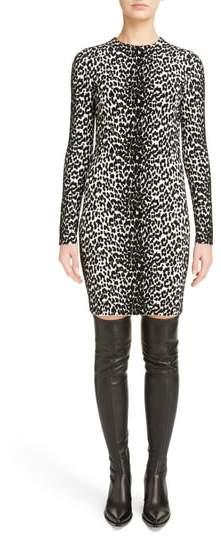 Givenchy Leopard Jacquard Body-Con Dress
