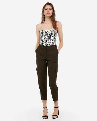 Express Leopard Sweetheart Sweater Tube Top