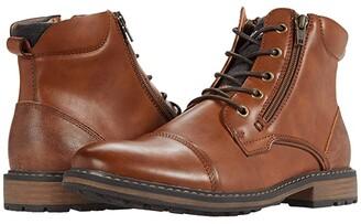 Steve Madden Trastr Lace-Up Boot (Cognac) Men's Shoes