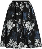 Erdem Halyn Pleated Metallic Jacquard Skirt - UK12