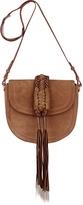Altuzarra Ghianda Knot Suede Chocolate Saddle Bag