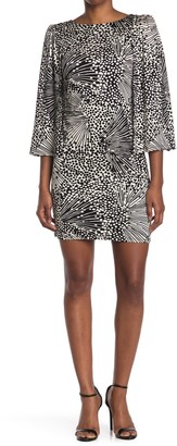 Trina Turk Kouyou Split Sleeve Shift Dress