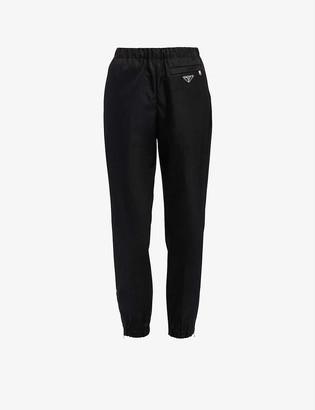 Prada Straight-leg high-rise recycled nylon trousers