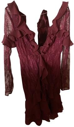 For Love & Lemons Red Lace Dresses