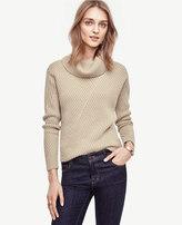 Ann Taylor Petite Aran Cowlneck Sweater