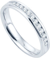 JCPenney FINE JEWELRY 1/4 CT. T.W. Channel-Set Diamond Band