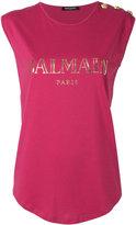 Balmain logo T-shirt - women - Cotton - 38